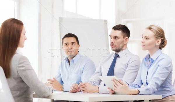 Squadra di affari richiedente ufficio business intervista occupazione Foto d'archivio © dolgachov