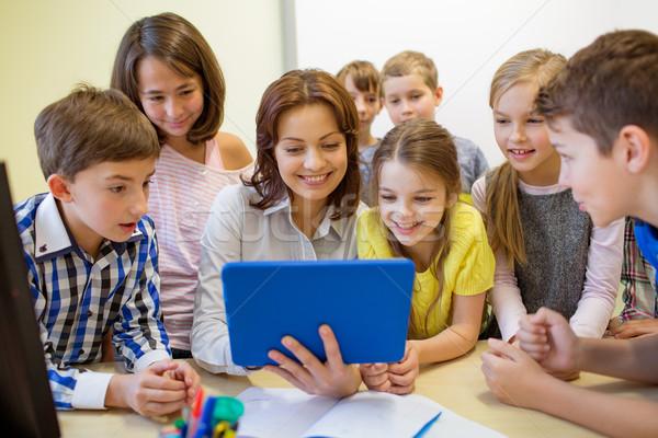 группа дети учитель школы образование Сток-фото © dolgachov