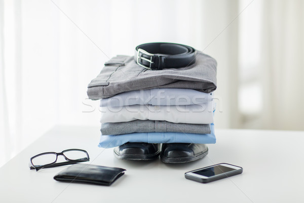 Közelkép hivatalos ruházat személyes üzlet stílus Stock fotó © dolgachov