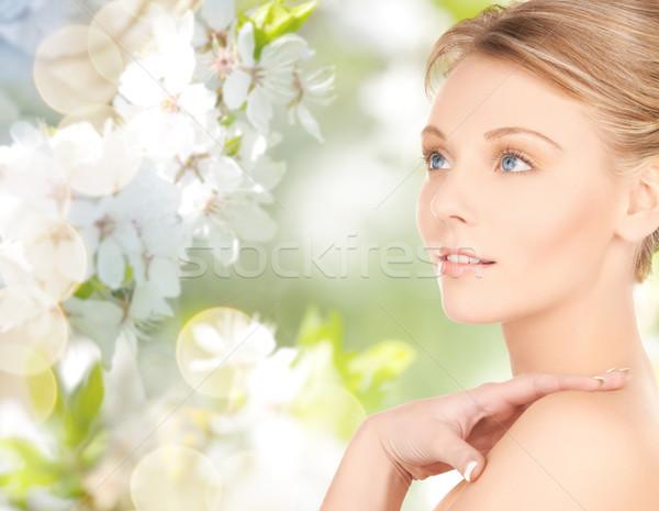 Mooie jonge vrouw gezicht schoonheid mensen zomer Stockfoto © dolgachov