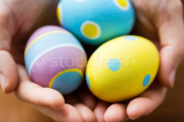 Renkli paskalya yumurtası Paskalya tatil gelenek Stok fotoğraf © dolgachov