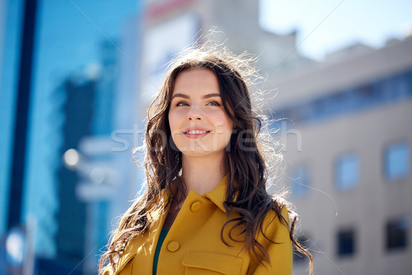 счастливым улыбаясь лет городской улице женщины Сток-фото © dolgachov