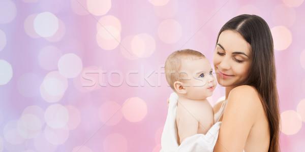 幸せ 母親 愛らしい 赤ちゃん 家族 ストックフォト © dolgachov