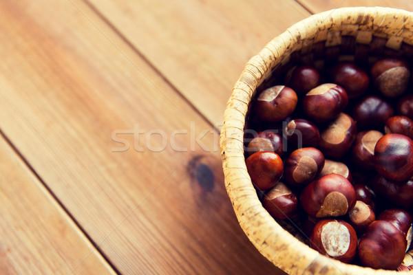 Panier table en bois nature saison automne Photo stock © dolgachov