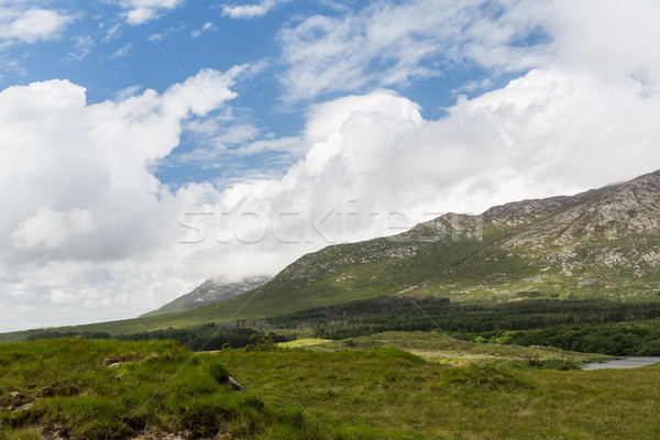 view to plain and hills at connemara in ireland Stock photo © dolgachov
