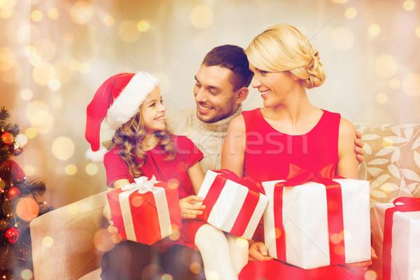 Sorridere famiglia molti Natale Foto d'archivio © dolgachov