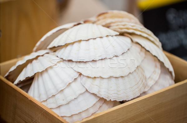 木製 ボックス ビーチ 海 ストックフォト © dolgachov