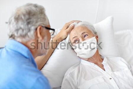 медсестры старший женщину пациент больницу медицина Сток-фото © dolgachov
