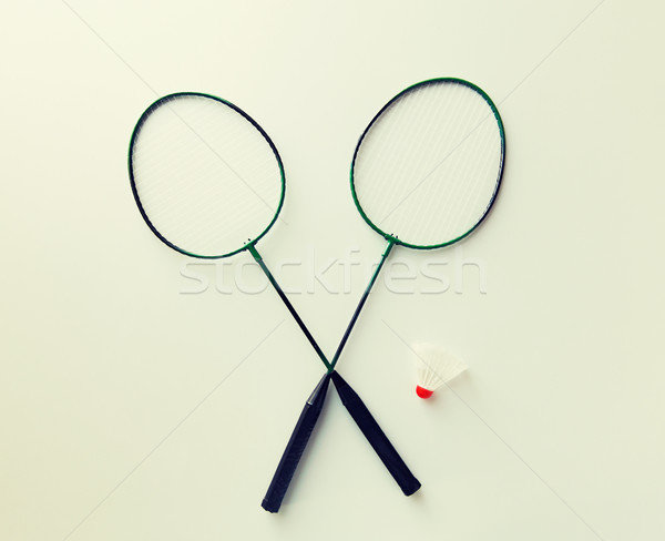 Badminton sport fitness objets Photo stock © dolgachov