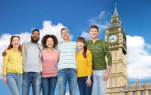 Internationaux groupe gens heureux Big Ben diversité Voyage Photo stock © dolgachov
