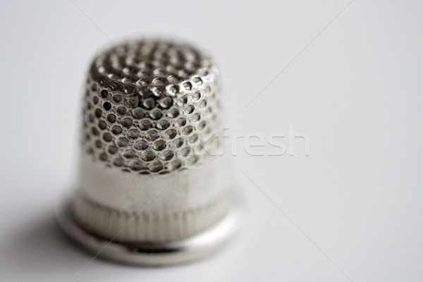 close up of thimble Stock photo © dolgachov
