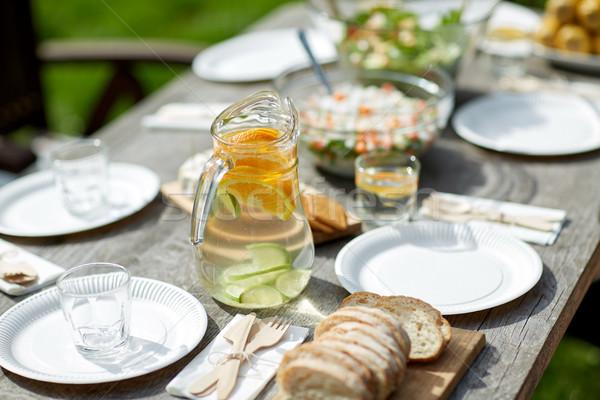 Photo stock: Table · alimentaire · dîner · été · garden · party · vacances