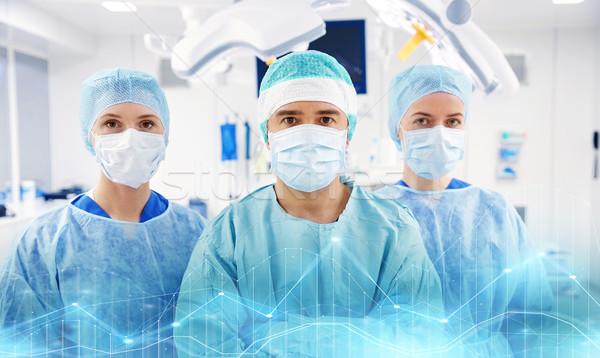 グループ 外科医 手術室 病院 手術 薬 ストックフォト © dolgachov
