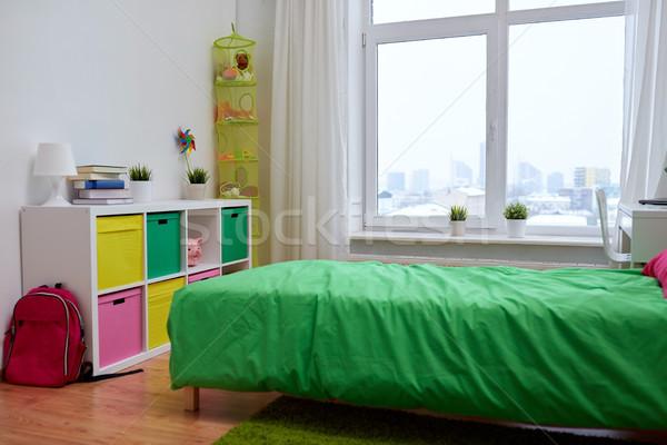 Crianças quarto interior cama casa Foto stock © dolgachov