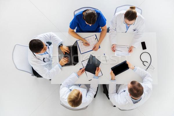 Artsen Xray kardiogram ziekenhuis geneeskunde gezondheidszorg Stockfoto © dolgachov