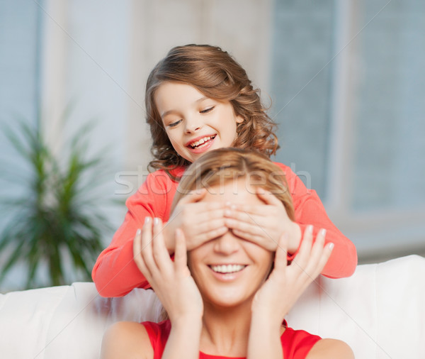 матери дочь фотография шутка дома Сток-фото © dolgachov