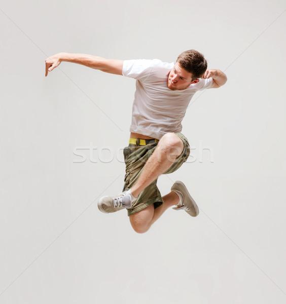 ストックフォト: 男性 · ダンサー · ジャンプ · 空気 · 画像 · 男