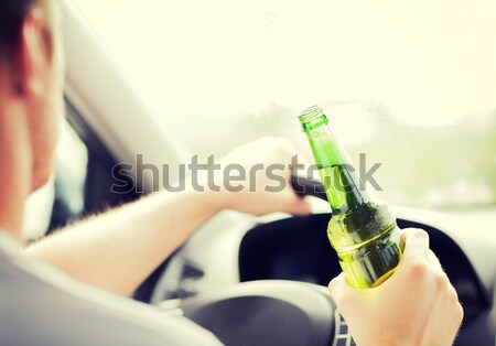 Man drinken alcohol rijden auto vervoer Stockfoto © dolgachov