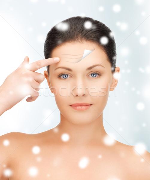beautiful woman face Stock photo © dolgachov