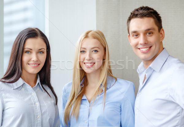 幸せ ビジネスチーム オフィス ビジネス 笑顔 女性 ストックフォト © dolgachov