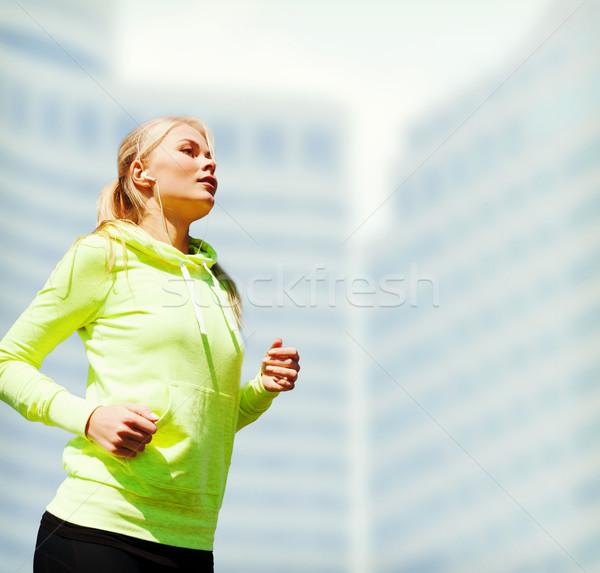 Nő fut kint sport életstílus város Stock fotó © dolgachov
