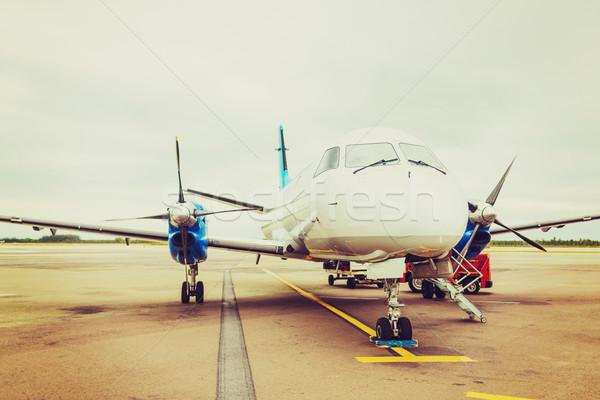 private plane at airport Stock photo © dolgachov