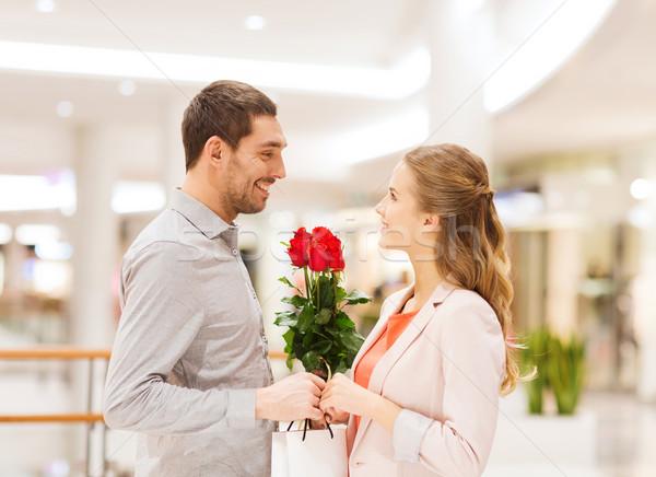 счастливым цветы Mall отношения любви Сток-фото © dolgachov