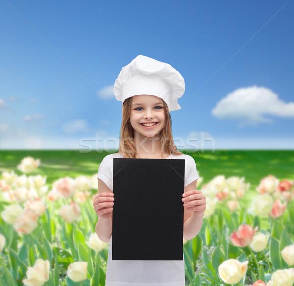 Weinig kok bakker zwarte papier koken Stockfoto © dolgachov