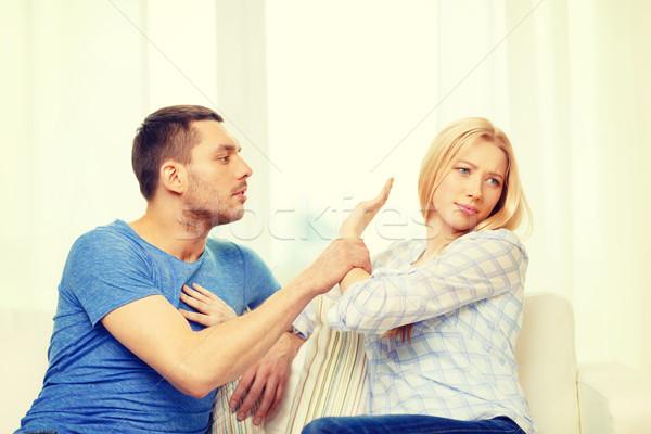 Infeliz casal argumento casa amor família Foto stock © dolgachov