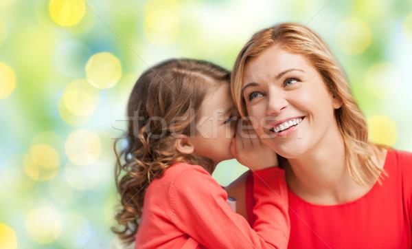 Feliz hija chismes madre personas Foto stock © dolgachov