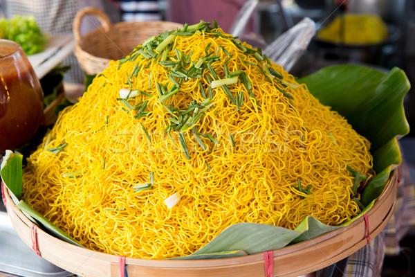 調理済みの 麺 通り 市場 料理 アジア ストックフォト © dolgachov