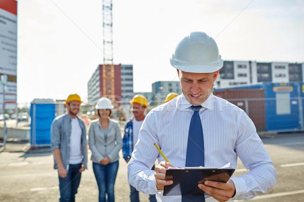 幸せ ビルダー 建築 建設現場 ビジネス 建物 ストックフォト © dolgachov