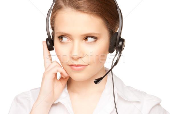 ヘルプライン 演算子 明るい 画像 優しい 女性 ストックフォト © dolgachov