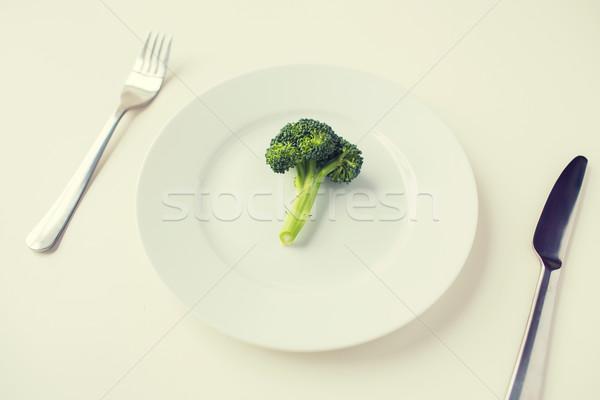 Brokuły tablicy zdrowe odżywianie diety Zdjęcia stock © dolgachov