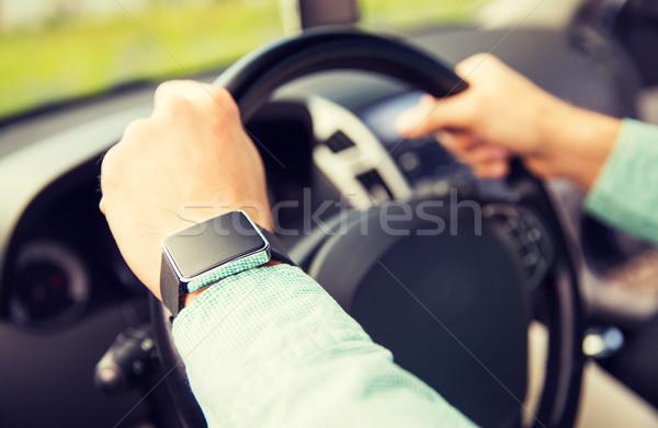 Homem condução carro transporte Foto stock © dolgachov
