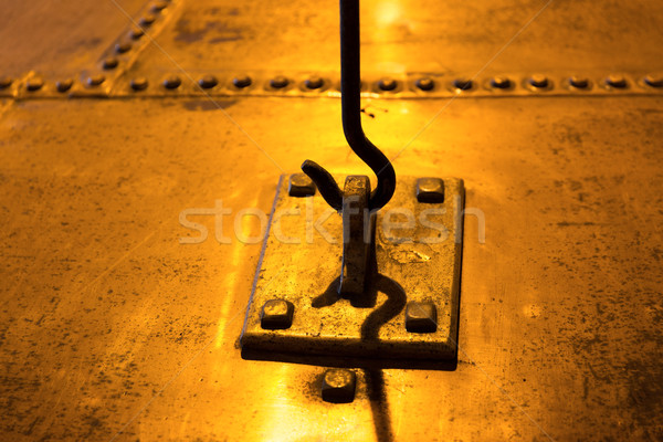 close up of vintage metal hook and loop Stock photo © dolgachov