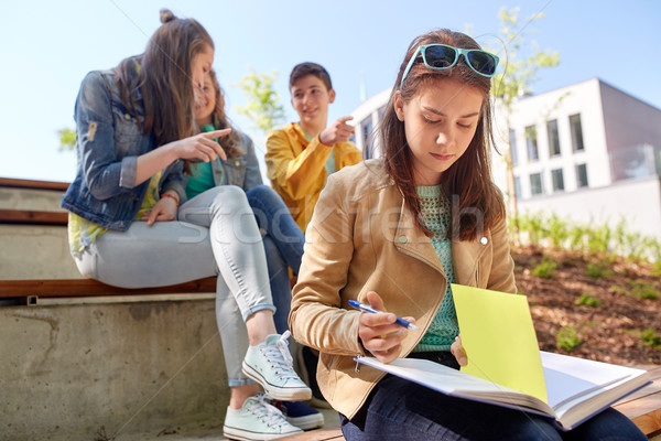 Сток-фото: студент · девушки · страдание · Одноклассники · образование