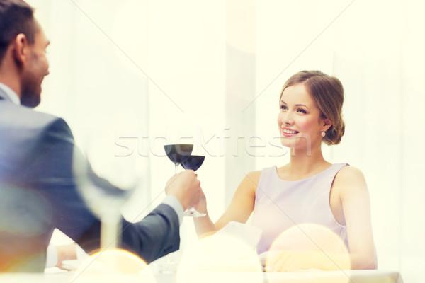 глядя дружок муж ресторан пару Сток-фото © dolgachov