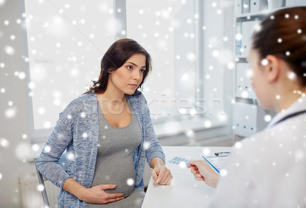 гинеколог врач беременная женщина больницу беременности гинекология Сток-фото © dolgachov