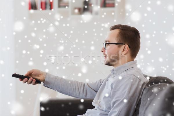 Souriant homme contrôle maison personnes Photo stock © dolgachov