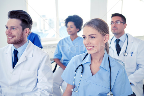 グループ 幸せ 医師 セミナー 病院 職業 ストックフォト © dolgachov