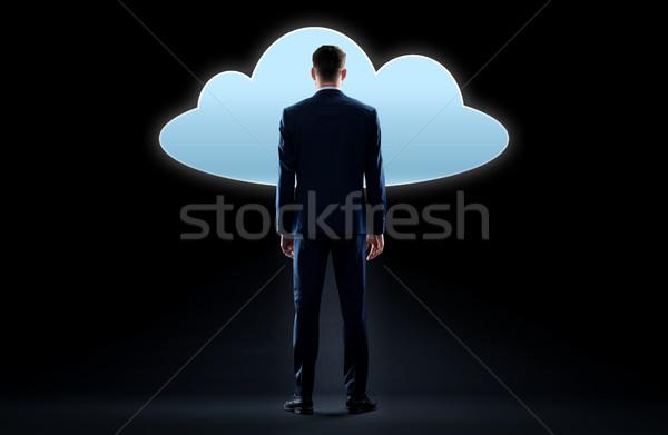 ビジネスマン 見える バーチャル 雲 ホログラム ビジネスの方々 ストックフォト © dolgachov