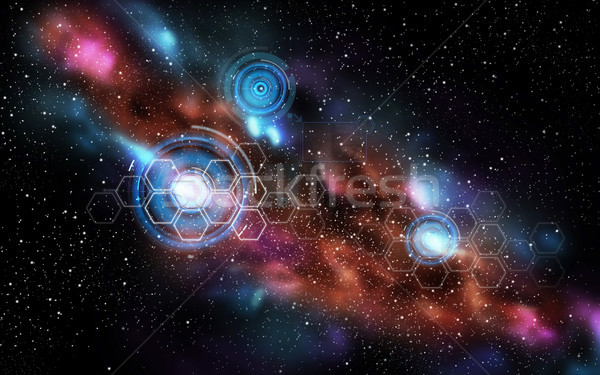 network projections in space Stock photo © dolgachov