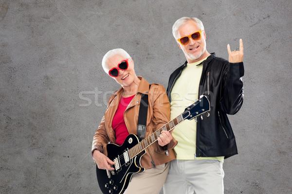 гитаре рок рукой знак музыку Сток-фото © dolgachov