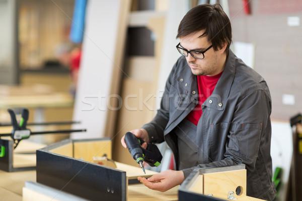 отвертка мебель производства промышленности рабочих Сток-фото © dolgachov