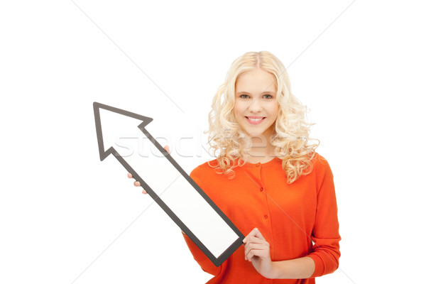 деловая женщина направлении фотография привлекательный бизнеса Сток-фото © dolgachov