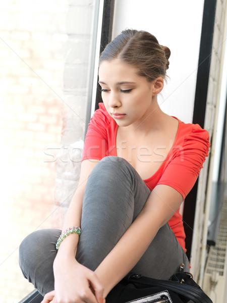 悲しい 十代の少女 明るい 画像 ストックフォト © dolgachov