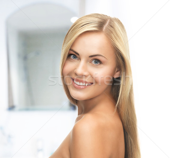beautiful woman with long hair Stock photo © dolgachov