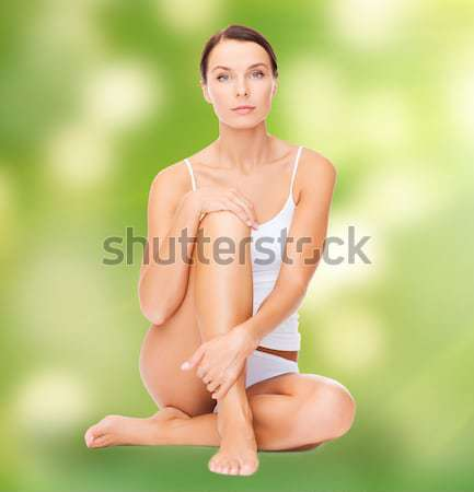 beautiful woman in white cotton underwear Stock photo © dolgachov