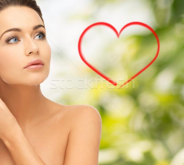 Bella donna bellezza salute donna faccia Foto d'archivio © dolgachov